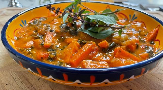 Pumpkin, Carrot and Sweet Potato Thai Red Curry