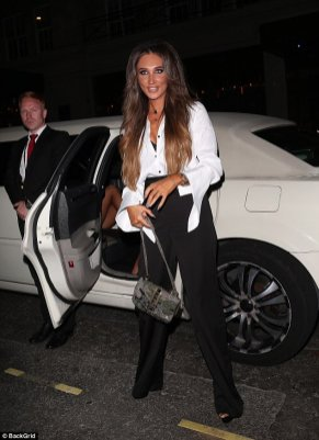 Country Singer & Towie's Megan Mckenna on her 25th Birthday in our Chrysler Limousine. Lance in the background looking more like security than a limo driver.