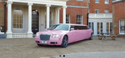 Pink Chrysler Limo Hire London | Surrey | Kent | Hampshire | Essex | Hertfordshire