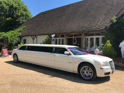 Chrysler Limo at Rivervale Barn Yateley - Wedding Car Hire Surrey, Hampshire , London