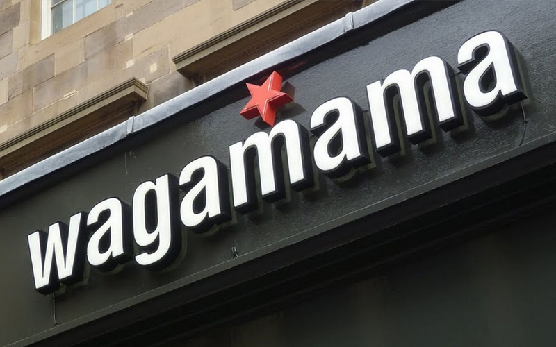 wagamama restaurant sign