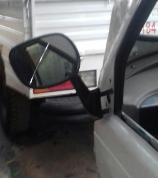 Trike with car doors mirror