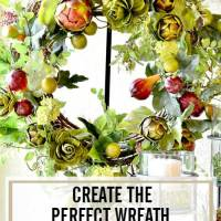 DIY Artichoke Garland Wreath - Super Simple!