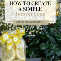 Making a Lemon Vase - A Simple Summer Arrangement