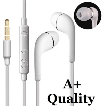 A  j5  tereo earphone 3 5mm in ear flat noodle headphone  head et with mic and remote control for  am ung galaxy  3  4  5  6 note 2 3 4