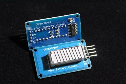 4 colors 10 segments Battery display