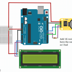 Arduino Lcd Screen Wiring Diagram 2009 Pontiac G6 Headlight How To Simply Use Ds1302 Rtc Module With Board And 2 Add I2c Solving The Grounding Problem If You Encounter It