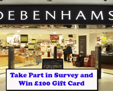 Debenhams Feedback Survey