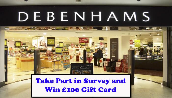 Debenhams Feedback Survey