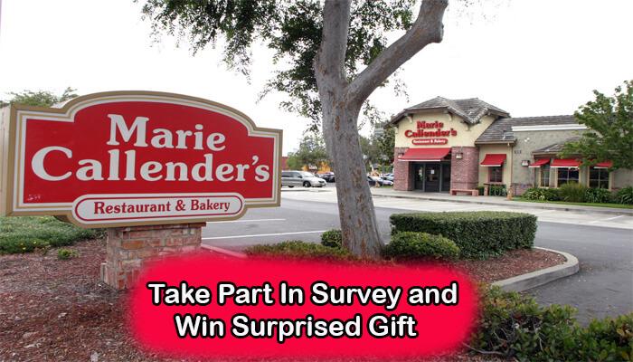 Marie Callender's Restaurant & Bakery Survey