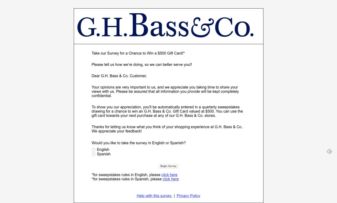 09c2cebc305 G.H. Bass Survey Archives