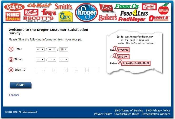 Kroger Feedback Fuel Points Survey