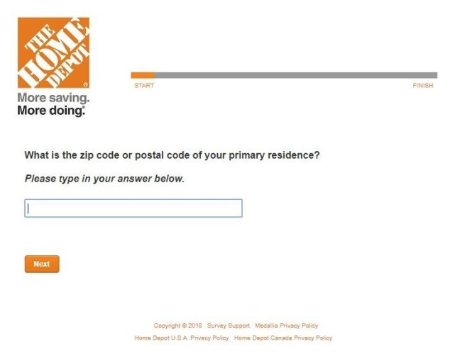 Home Depot Opinion Survey Sweepstakes