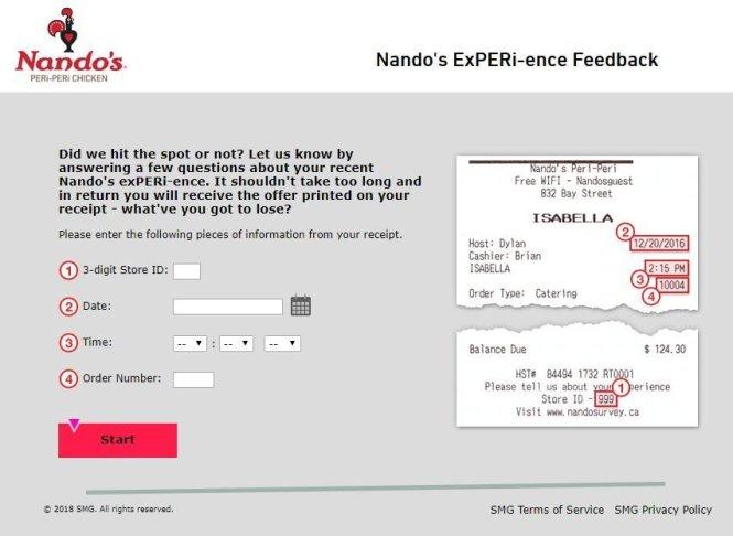 Nando's Customer Feedback