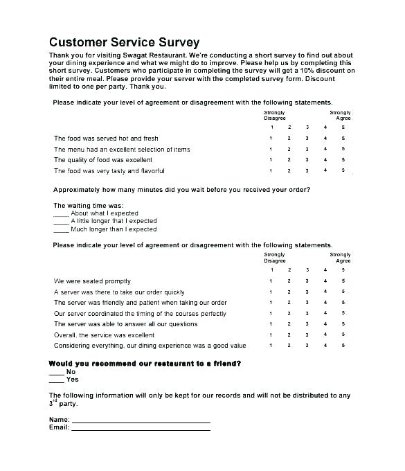 questionnaire survey template