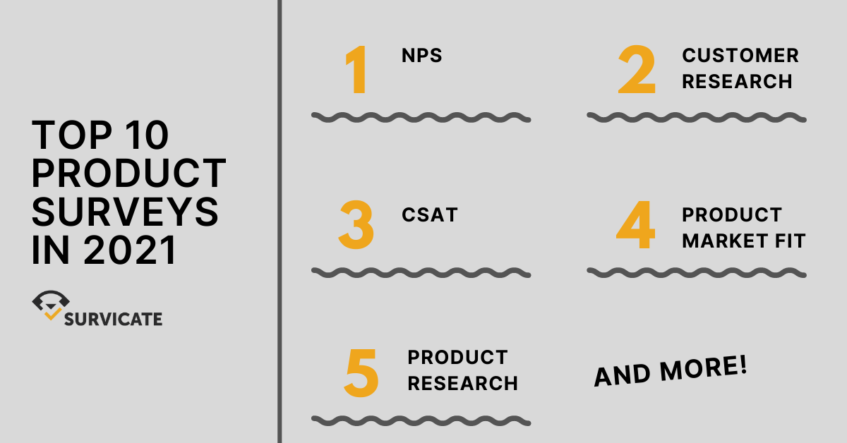 Top 10 Product Surveys and Product Survey Questions