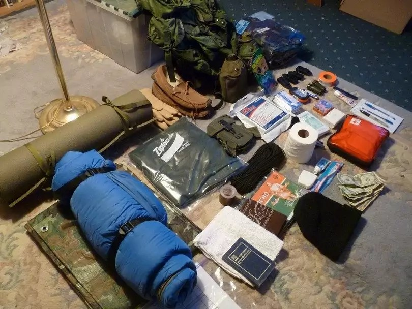Backpack Contents Out Survival Bug Bags
