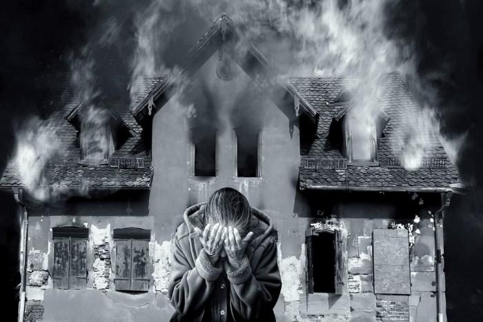 Feuerausbruch Katastrophe Flammen