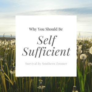 Why You Should Be Self Sufficient