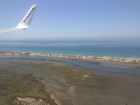 The Algarve--Flying into Faro, Portugal