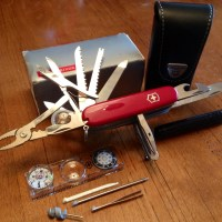 Rare Victorinox SwissChamp Swiss Army Knife Traveler's Set