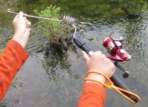survival fishing pole