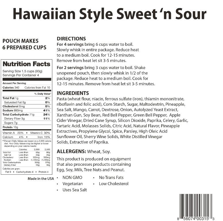 Hawaiian Style Sweent 'n Sour