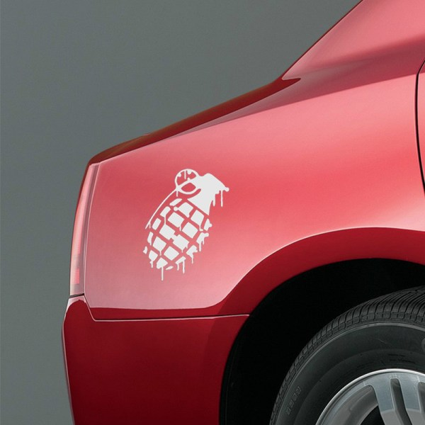 Hand Grenade Car Sticker