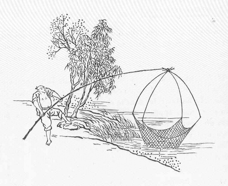 Net fishing in ancient China