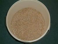 Storing grain for livestock.