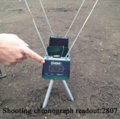 Shooting chronograph bullet test