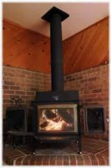 Wood burning stove for blackout prep