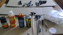 How to Clean a 1911 - Gun cleaning supplies.