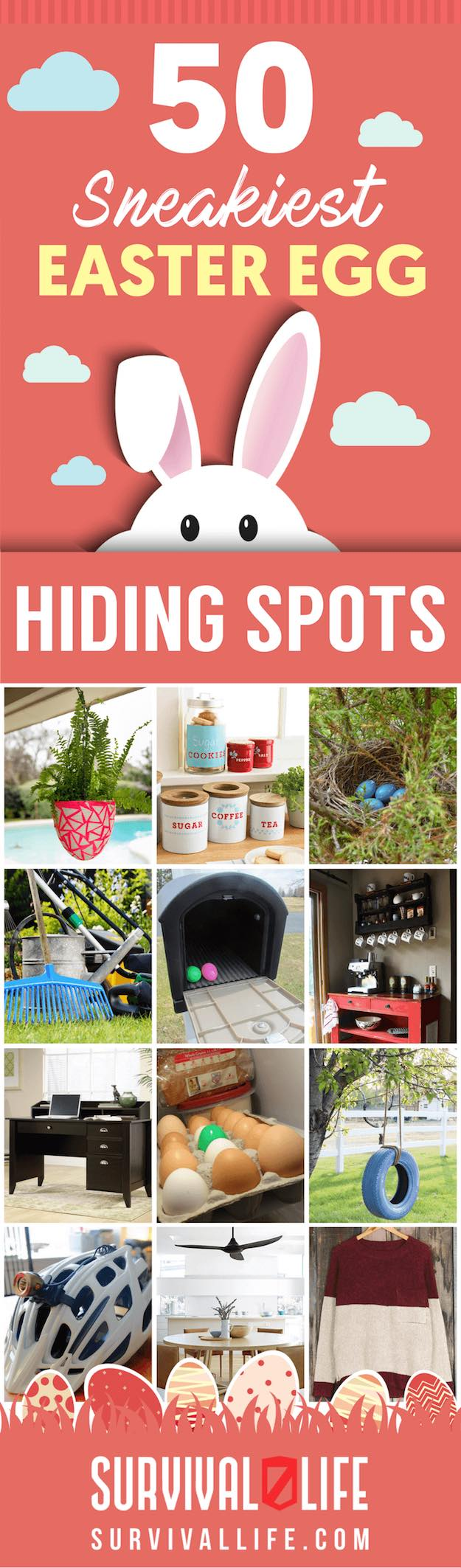 50 easter egg hiding spots