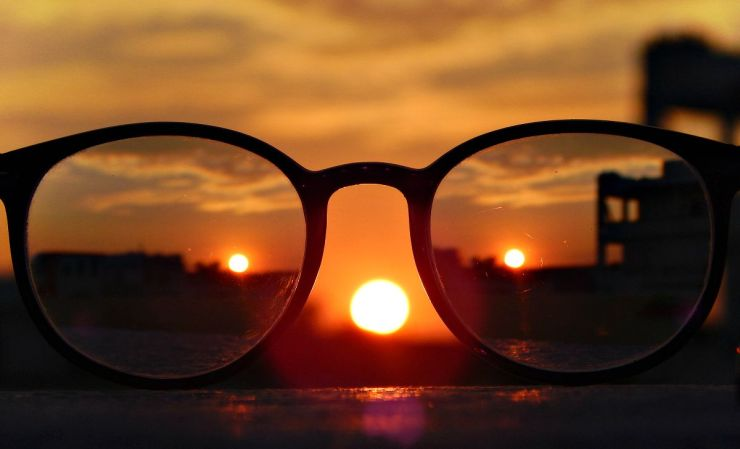 Close-up photography of eyeglasses at golden hour   Keeping Focus For The Focus Challenged