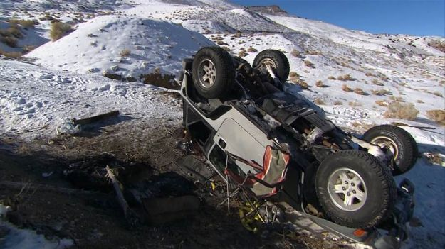 Overturned Jeep Wrangler | One Man's Quick Thinking Saves Lives in a Winter Storm
