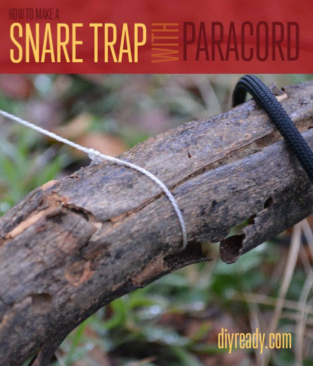 Paracord Snare Trap | 9 Kickass Booby Traps to Arm And Protect Your Homestead