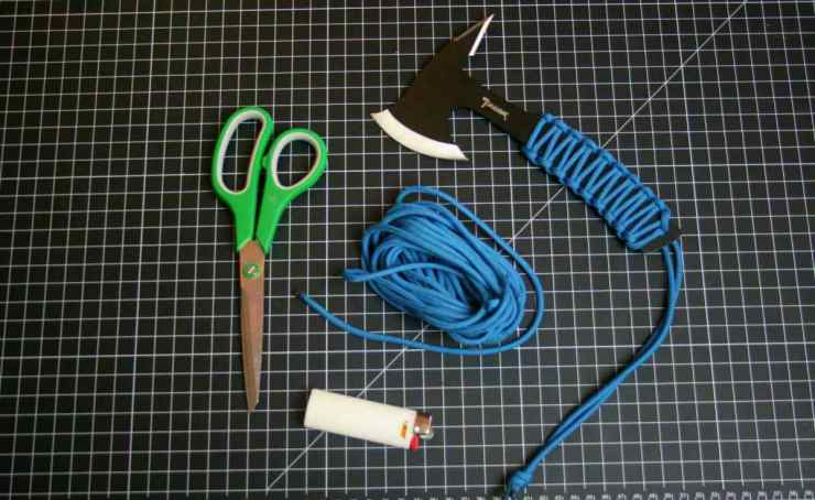 Paracord knife materials | Homemade Paracord Knife Grip | DIY Paracord Projects