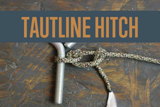 The Tautline Hitch | Paracord Knots and Hitches | How To Make Paracord Hitches | paracord lanyard knots