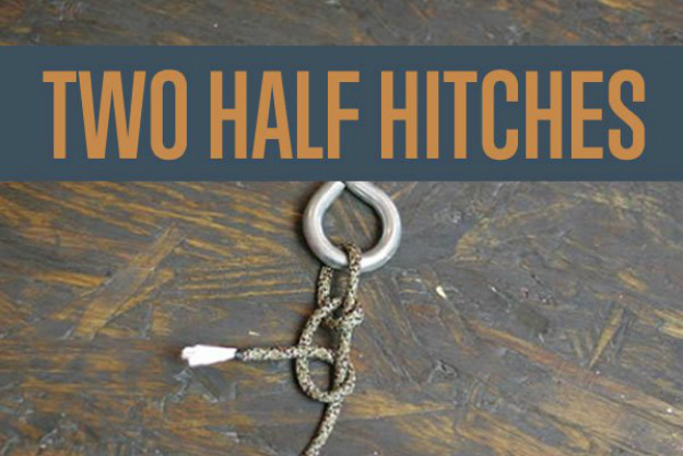 Two Half-Hitches | Paracord Knots and Hitches | How To Make Paracord Hitches | paracord lanyard knots