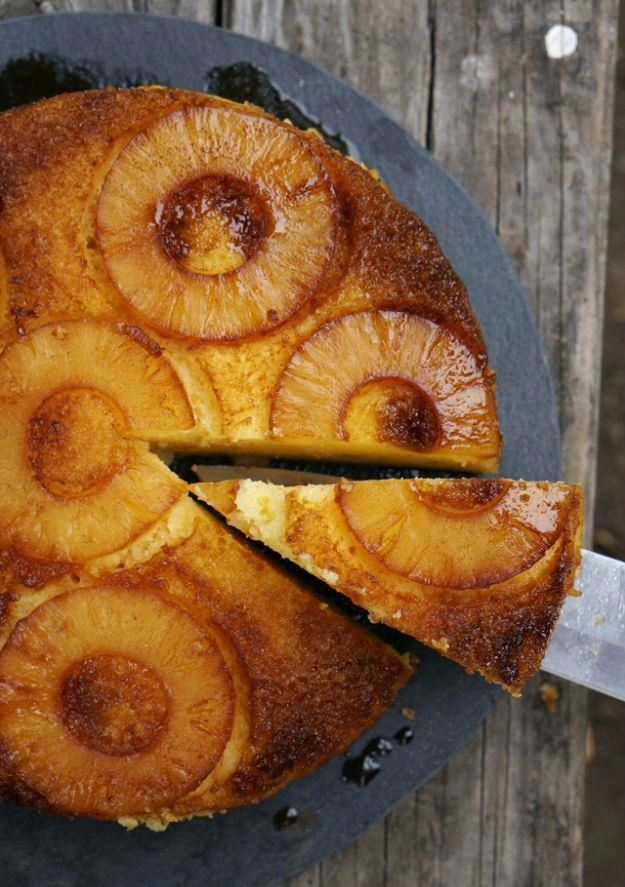Camp Pineapple Upside Down Cake | Camping Snacks Recipes