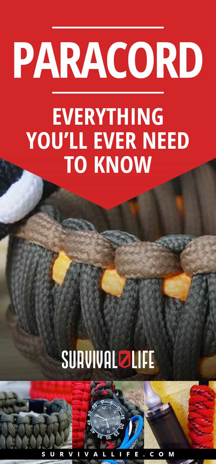 Paracord: Everything You'll Ever Need to Know | https://survivallife.com/all-about-paracord/