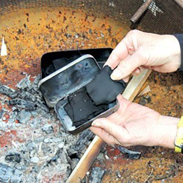 how to start a fire with char cloth, char cloth tin, homemade char cloth, how to build a fire, char cloth