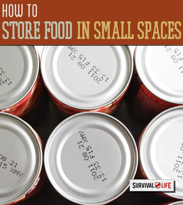 Emergency Food Storage In Small Spaces | http://survivallife.com/emergency-food-storage-small-spaces/