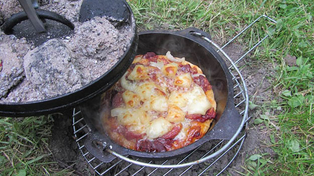 Campfire Pizza | 25 Badass Camping Hacks For Your Next Trip