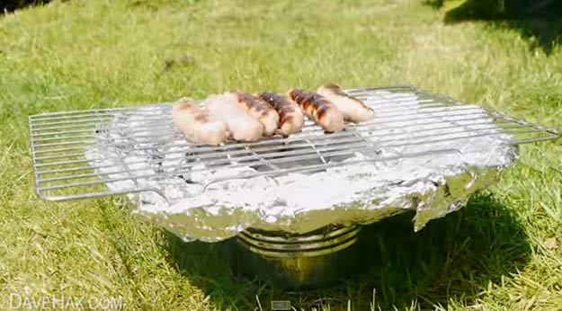 Tin Can Grill | 25 Badass Camping Hacks For Your Next Trip