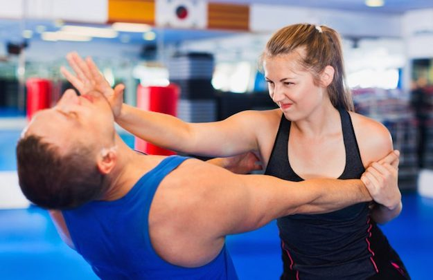 Chin Jab followed by elbow strike to the chest | Survival Tips: Self Defense for Women