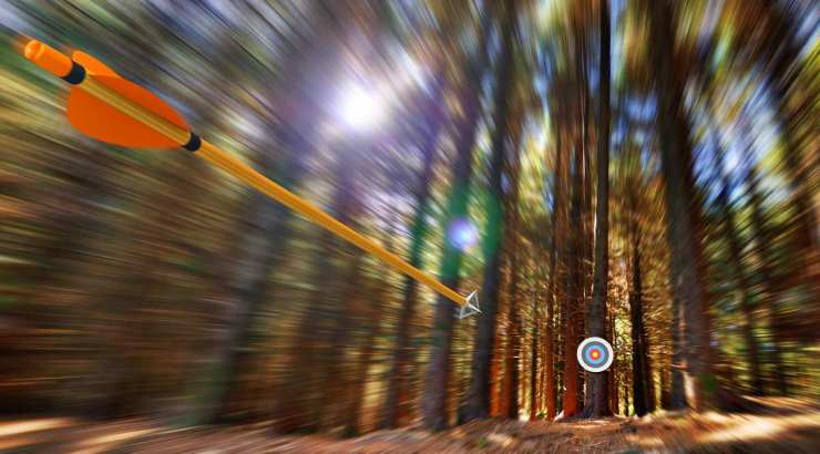 Arrow flying to target with radial motion blur | Archery 101: Tips And Tricks For Beginners