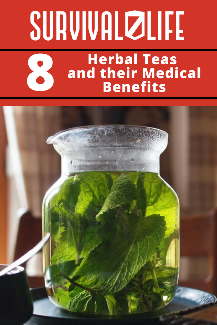 Check out 8 Herbal Teas and Their Medical Benefits at https://survivallife.com/herbal-teas-medical-benefits/