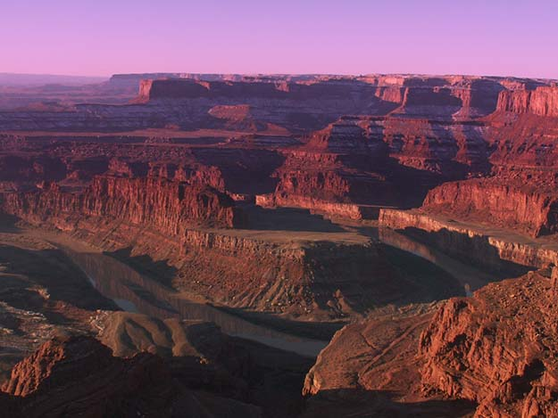 Looking down on Canyonlands National Park from Dead Horse Point.